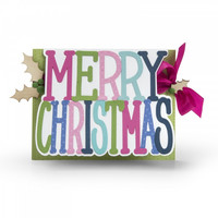 Sizzix Thinlits: Merry Christmas Drop-ins Card -stanssisetti
