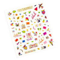 Summer Fiesta Mini Puffy Stickers