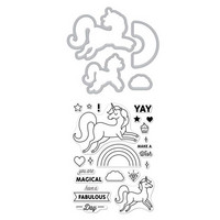 Stamp & Cut: Unicorn -setti