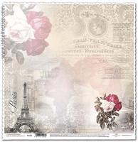Paris 12x12 - skräppipaperi