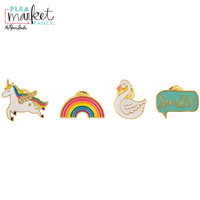 Flea Market Fancy Enamel Pins: Unicorn