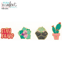Flea Market Fancy Enamel Pins: Succulent