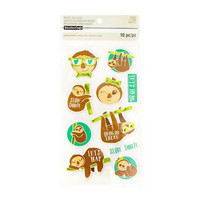 Recollections Puffy Stickers: Sloth  -tarrapakkaus