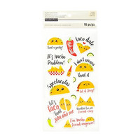 Recollections Puffy Stickers: Tacos  -tarrapakkaus