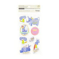 Recollections Puffy Stickers: Rhino  -tarrapakkaus
