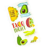 Recollections Puffy Stickers: Avocados  -tarrapakkaus
