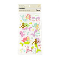 Recollections Puffy Stickers: Mermaids  -tarrapakkaus