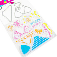 Pool-Riffic stamps & dies: Bikini -setti