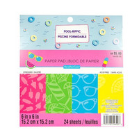 Recollections: Pool-Riffic Embossed 6x6 - paperikokoelma