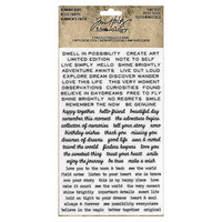 Tim Holtz Idea-ology Remnants: Tiny Text -siirtokuvapakkaus