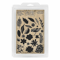Cling Foam Stamps: Cutout Floral