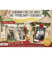 Vintage Christmas Foiled A5  - korttikuvalehtiö