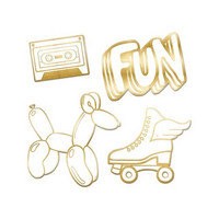 Recollection Embossed Chipboard Icons: Fun