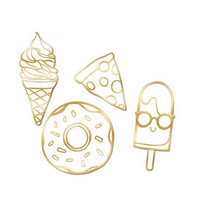 Recollection Embossed Chipboard Icons: Food