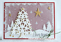 Creatables: Tiny's Christmas Tree with stars -stanssi