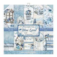 Blue Land 12 x 12 paperikokoelma