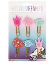 Hello Dreamer Glitter Icon Paper Clips