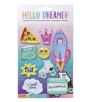 Hello Dreamer Glitter Shaker Stickers -tarrapakkaus