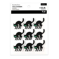 Halloween Glitter Stickers: Cats
