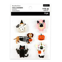 Halloween 3D Stickers: Pets in Costumes