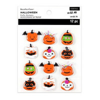 Halloween Puffy Stickers: Masked Pumpkins