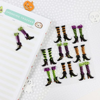 Halloween Puffy Stickers: Witch Legs
