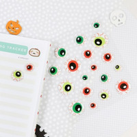 Halloween Puffy Stickers: Eye Balls