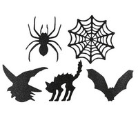 Halloween Glitter Die Cut Stickers