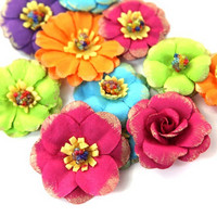 Recollections Paper Flowers:  Halloween Colorful