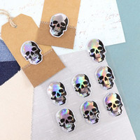 Halloween Puffy Stickers: Skull