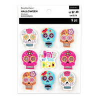 Halloween 3D Stickers: Day of the Dead Head