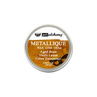 Finnabair Metallique Wax: Aged Brass 20ml