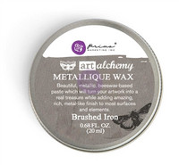 Finnabair Metallique Wax: Brushed Iron 20ml