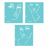 Jane Davenport Stencils: Good Face