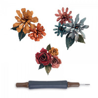 Sizzix Thinlits: Tiny Tattered Florals with Quilling Tool -stanssisetti