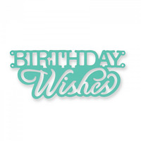 Thinlits: Birthday Wishes Cake Topper  -stanssi