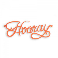 Thinlits: Hooray Cake Topper  -stanssi