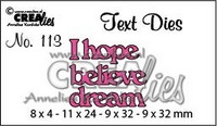 Text Dies: I hope believe dream - stanssisetti