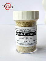 13arts Natural Mica Flakes:  Silver  0,2 - 0,8 mm