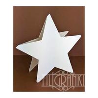 Tähti - korttipohjat 5 kpl