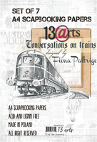 13arts: Conversations on Train by Fiona Paltrige A4  - paperikokoelma