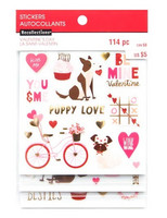 Recollections:  Puppy Love Clear Stickers -tarrapakkaus