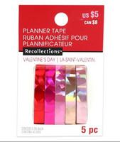 Planner PVC Tape: Holographic Red & Pink Narrow  - pakkaus