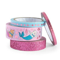 Planner Washi Tape: Glitzy Mermaid Cat  - pakkaus