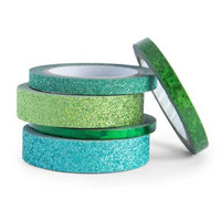 Planner Washi Tape: Glitzy Greens  - pakkaus