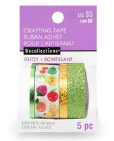 Planner Washi Tape: Glitzy Fruits - pakkaus