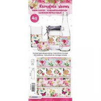 Small Shrink Sleeves:  Sweet Flowers #18