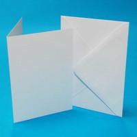 C6  korttipohjat ja kirjekuoret 50 kpl valkoinen