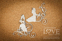 White & Innocent: Girl with Ornaments  -chipboardpakkaus