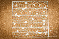 Love Llama: Triangles Background 12 x 12  -chipboardarkki